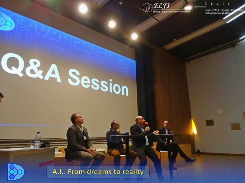 Intelligence artificielle événement AI from dreams to reality